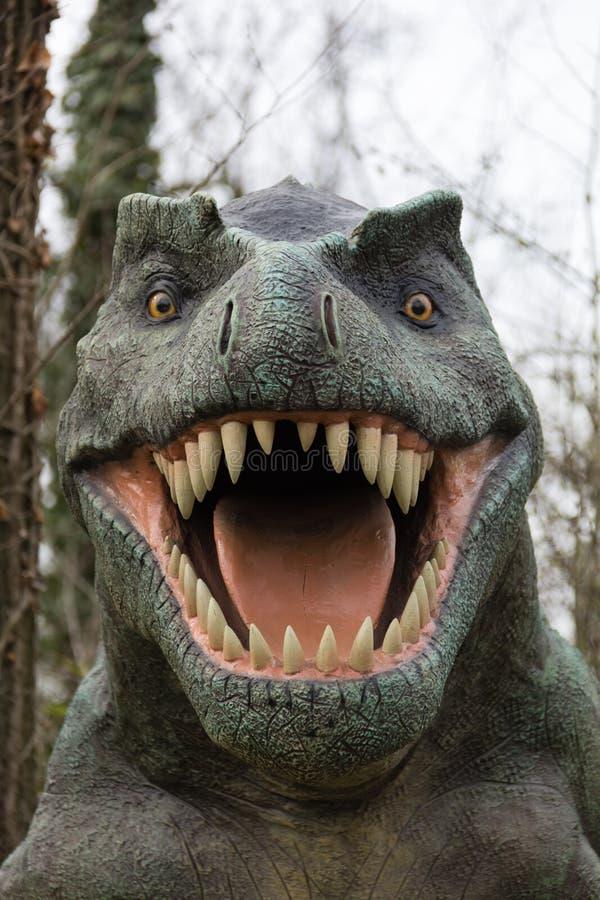 Cabeza 5 del dinosaurio foto de archivo