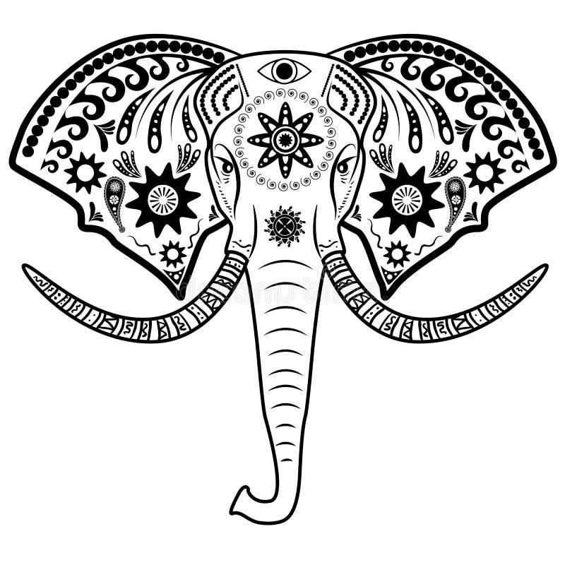 Cabeza del elefante ilustración del vector