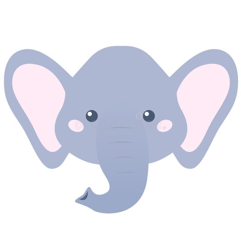 Cabeza del elefante Ilustración del vector stock de ilustración