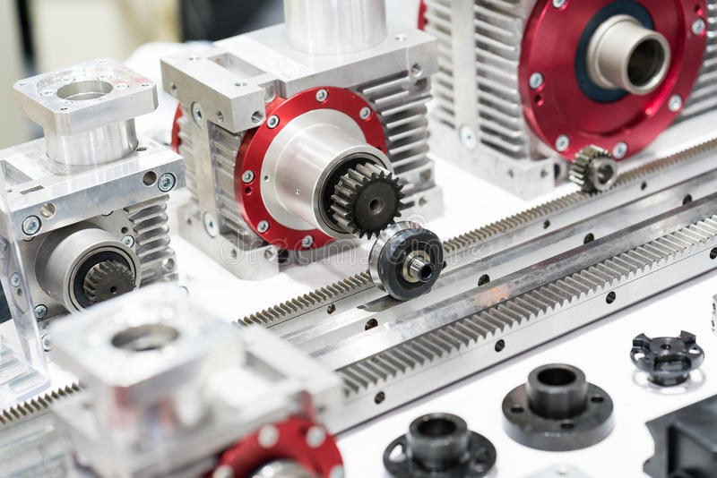 Cabeza del engranaje de la alta precisión y estante de engranaje industriales para el manufactur imagen de archivo libre de regalías