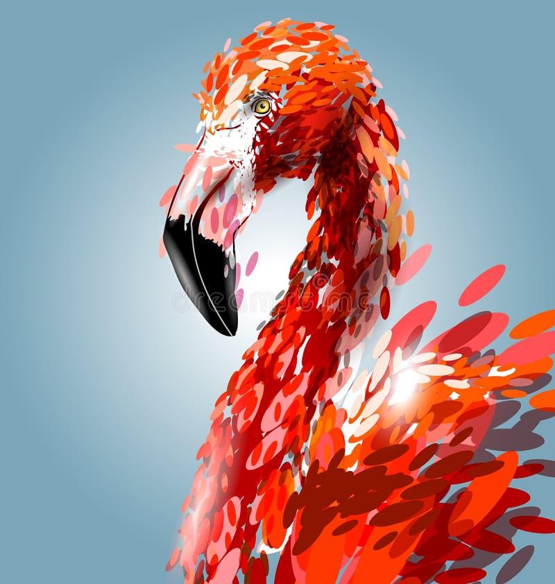 Cabeza del flamenco Ilustración del vector libre illustration