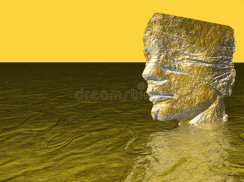 Cabeza del hombre en agua imagenes de archivo