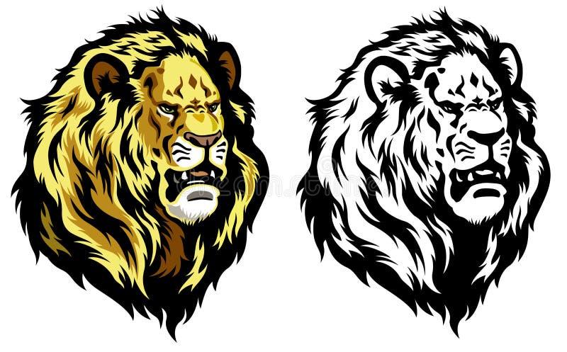 Cabeza del león stock de ilustración