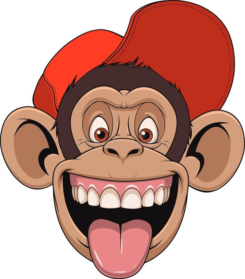 Cabeza del mono en un casquillo libre illustration