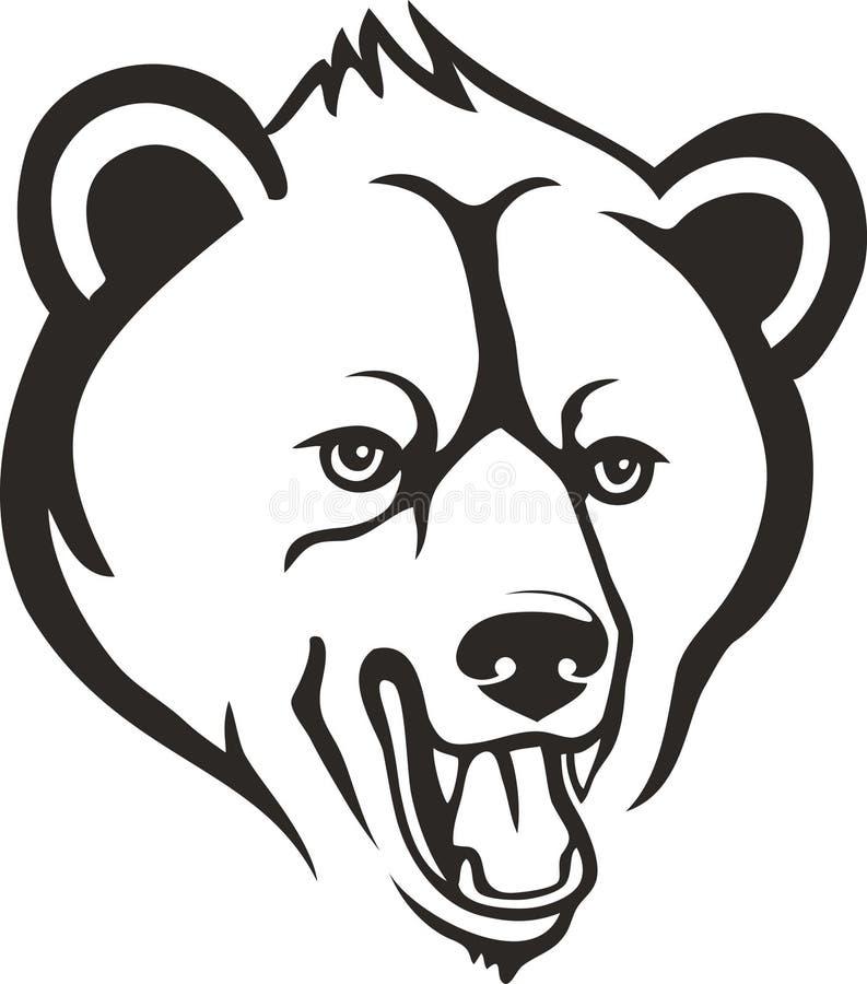 Cabeza del oso ilustración del vector