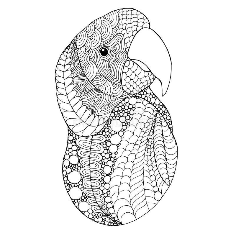 Cabeza del pájaro stock de ilustración