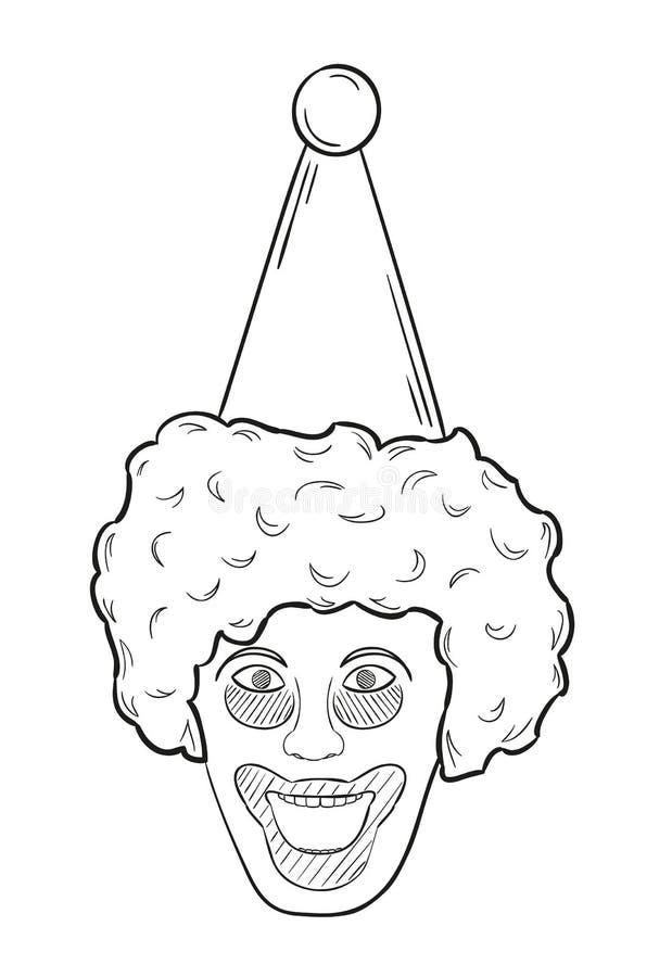 Cabeza del payaso libre illustration
