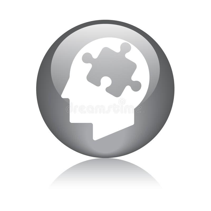 Cabeza del pedazo del rompecabezas de la mente ilustración del vector