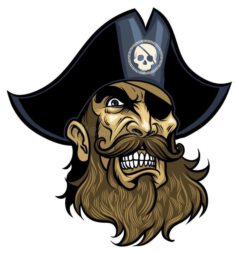Cabeza del pirata  ilustración del vector