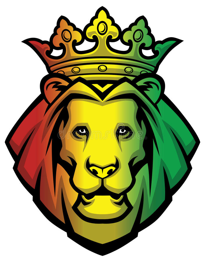Cabeza del rasta del león libre illustration