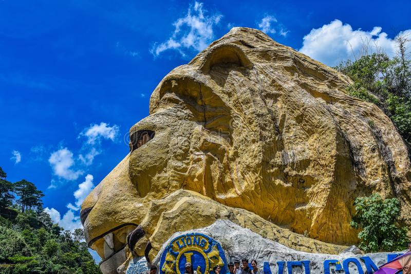 Cabeza del ` s del león de Baguio fotografía de archivo