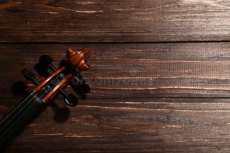 Cabeza del violín foto de archivo