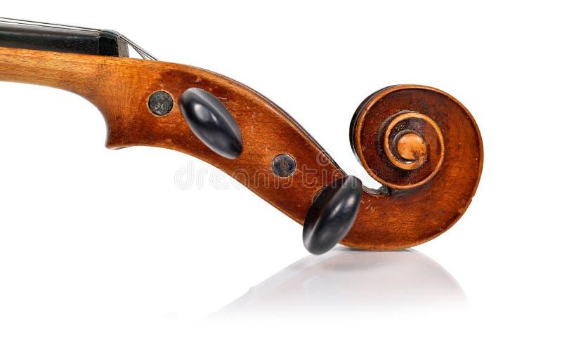 Cabeza del violín imágenes de archivo libres de regalías