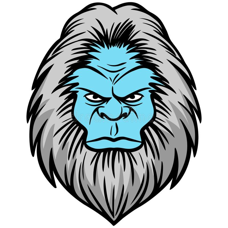Cabeza del yeti libre illustration