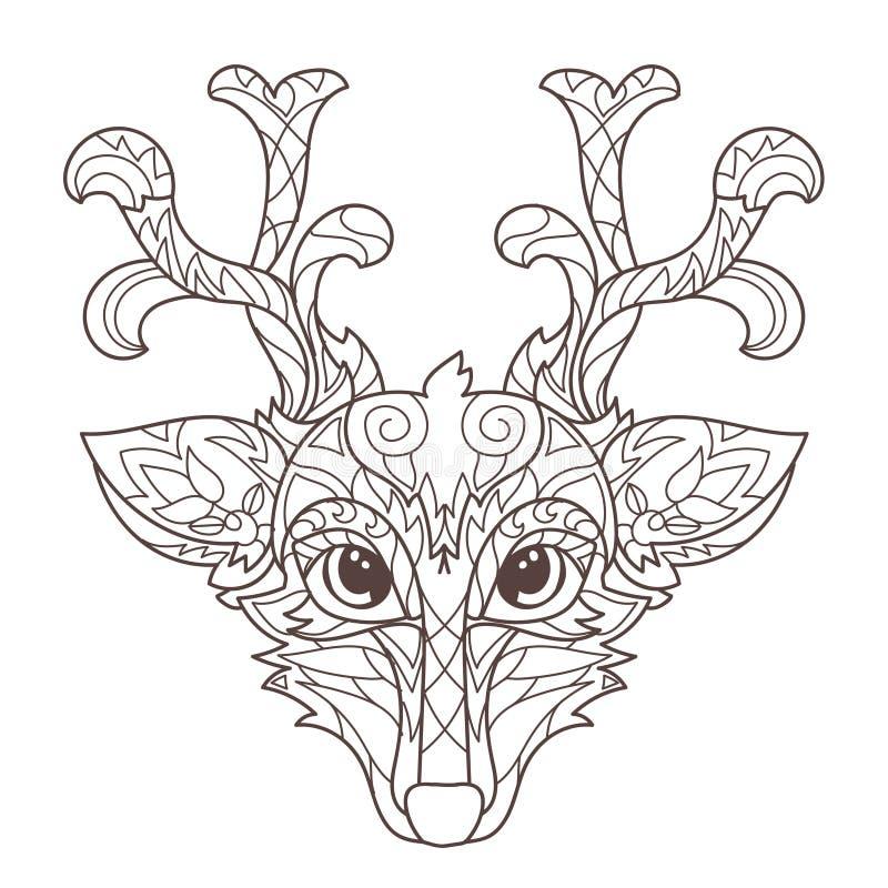 Increíble Ciervos De Cola Blanca Realista Para Colorear Ornamento ...