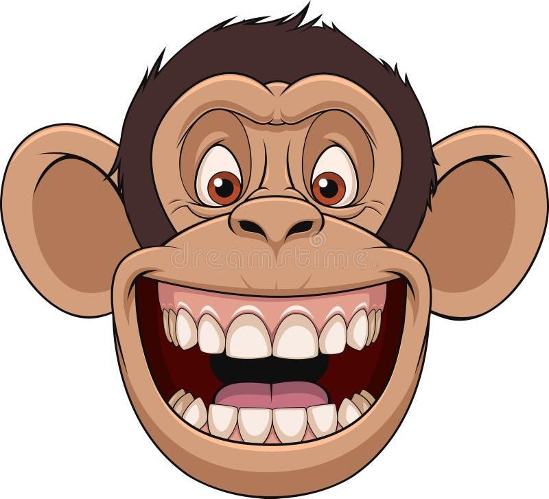 Cabeza feliz del mono libre illustration
