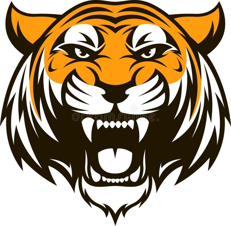 Cabeza feroz del tigre libre illustration