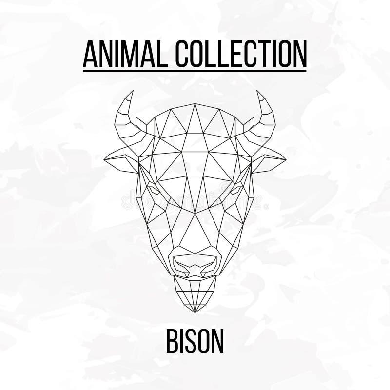 Cabeza geométrica del bisonte libre illustration
