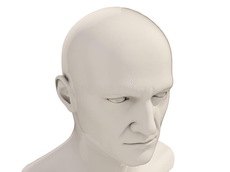 Download Cabeza humana aislada stock de ilustración. Ilustración de androide - 41921784