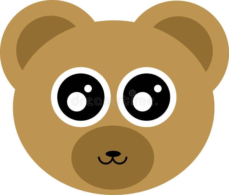 Cabeza linda del oso foto de archivo