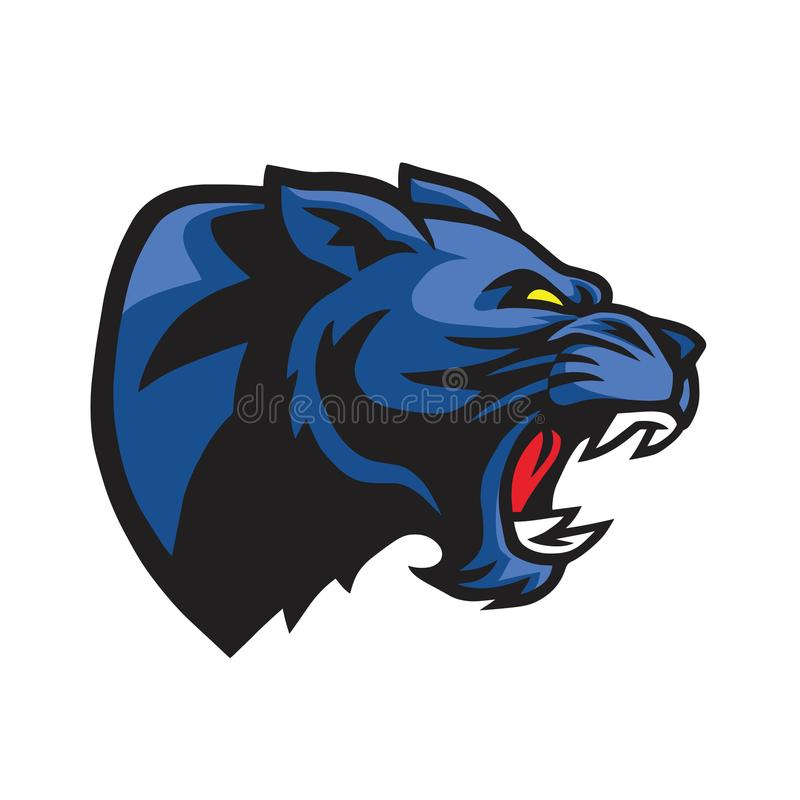 Cabeza Logo Mascot de la pantera negra stock de ilustración