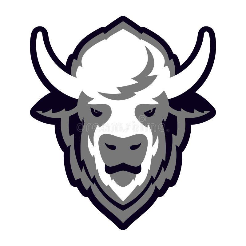 Cabeza Logo Mascot del búfalo libre illustration