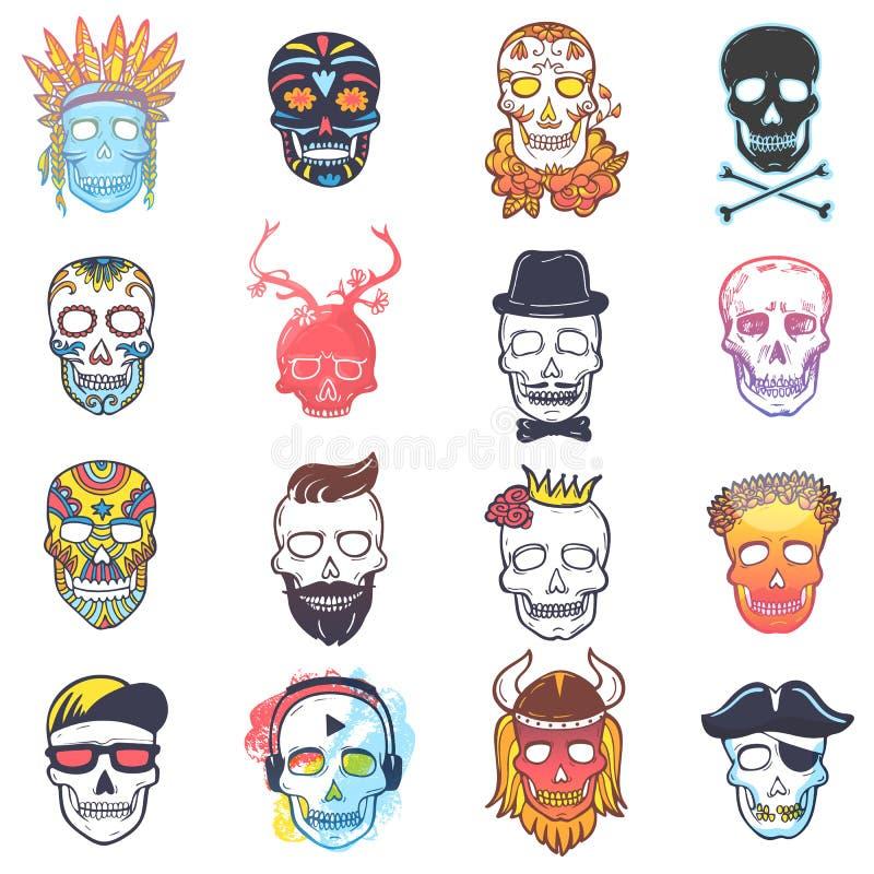 Cabeza Muerta Del Vector Del Cráneo Y Bandera Pirata Mexicana Y ...