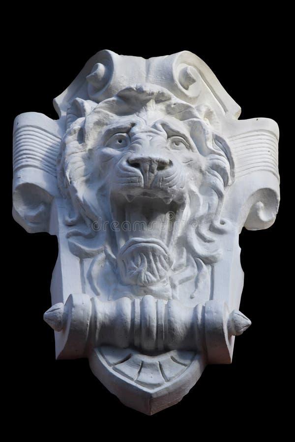 Cabeza ornamental del león imagenes de archivo