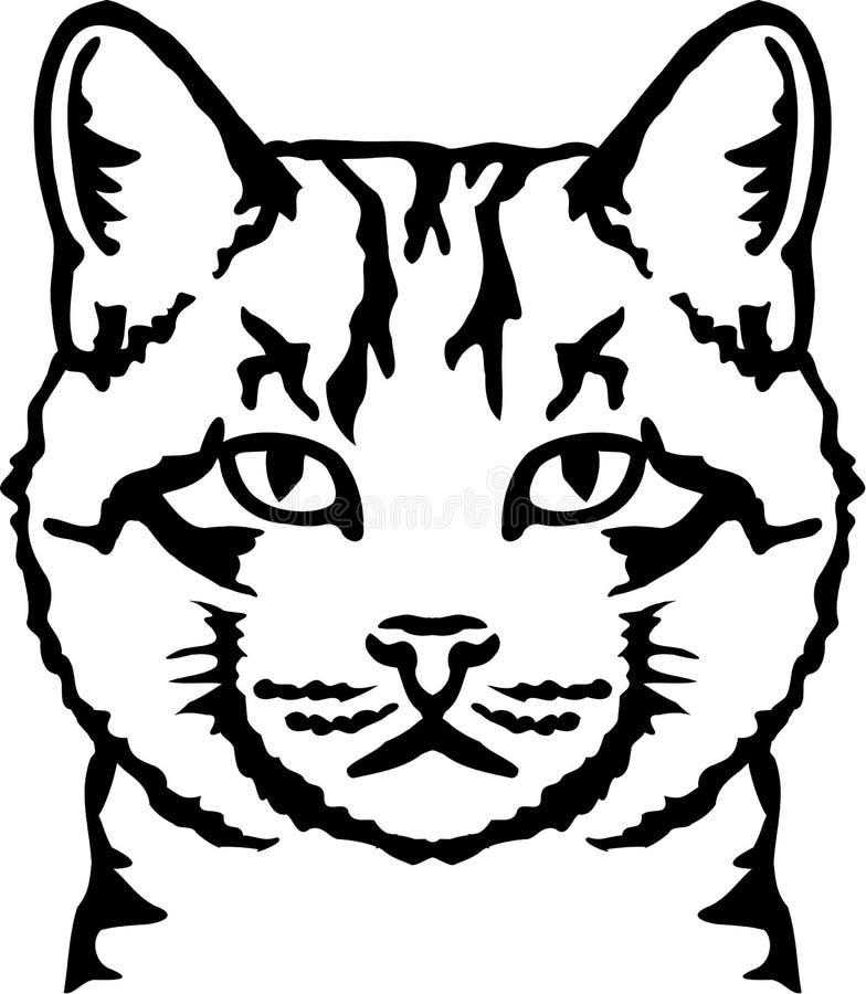 Cabeza real del gato libre illustration