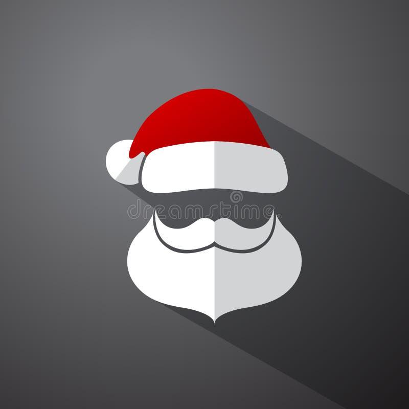 Cabeza simple de Papá Noel ilustración del vector