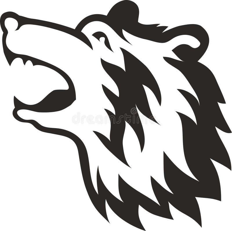 Cabeza tribal del oso ilustración del vector