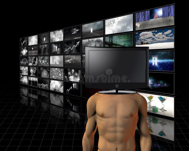 Cabeza video ilustración del vector