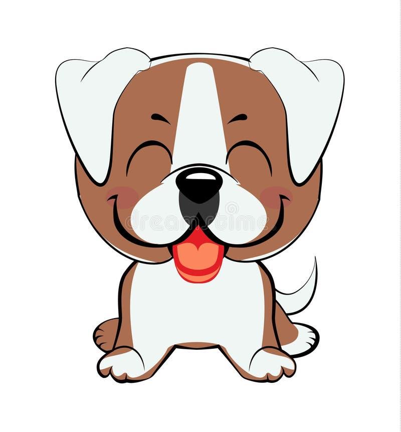 Cabeza y cara coloridas aisladas del labrador retriever feliz en el fondo blanco Retrato plano del perro de la raza de la histori libre illustration