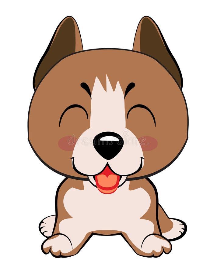 Cabeza y cara coloridas aisladas del labrador retriever feliz en el fondo blanco Retrato plano del perro de la raza de la histori stock de ilustración