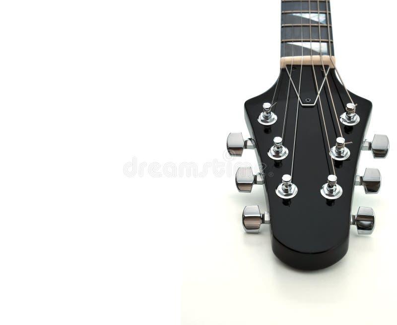 Cabezal de la guitarra fotografía de archivo