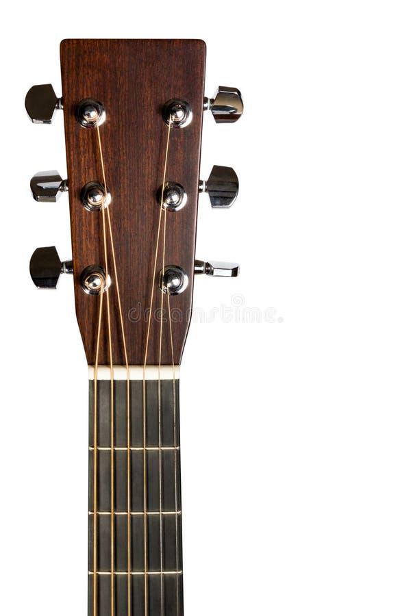 Cabezal de la guitarra eléctrica imagen de archivo