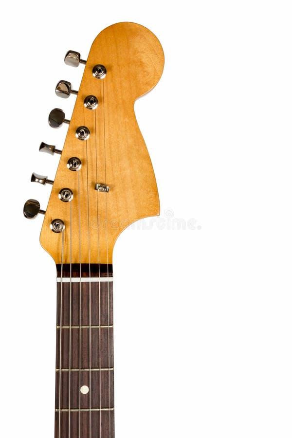 Cabezal de la guitarra eléctrica clásica imagen de archivo libre de regalías