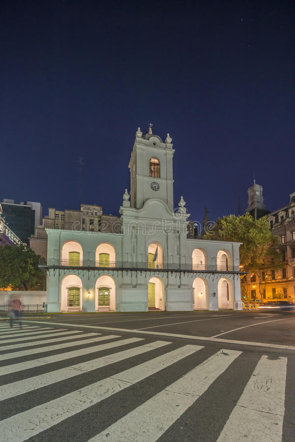 Cabildo大厦在布宜诺斯艾利斯,阿根廷 免版税库存图片