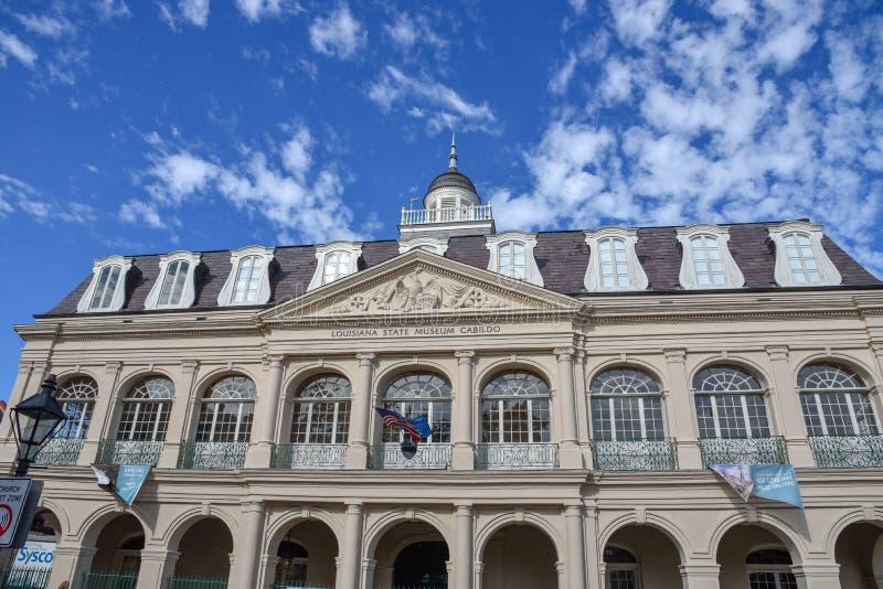 Cabildo na północy Jackson kwadrat w Nowy Orlean obraz royalty free