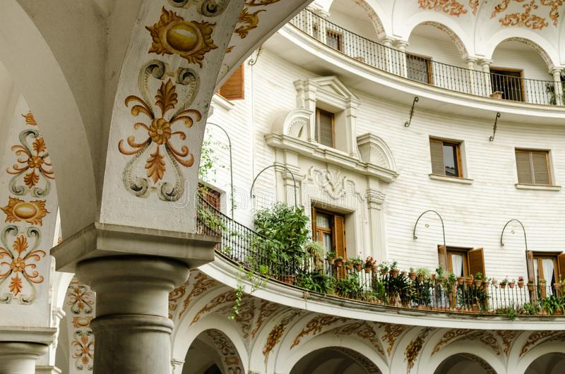 Cabildovierkant, Sevilla, Spanje stock foto