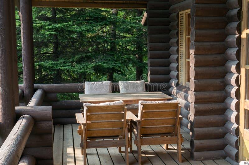 Cabin balcony royalty free stock photo