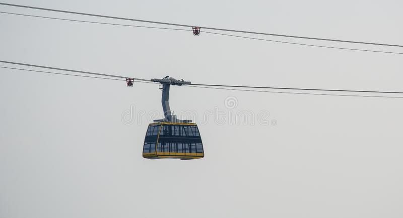 Cabin of the cable car royalty free stock photos