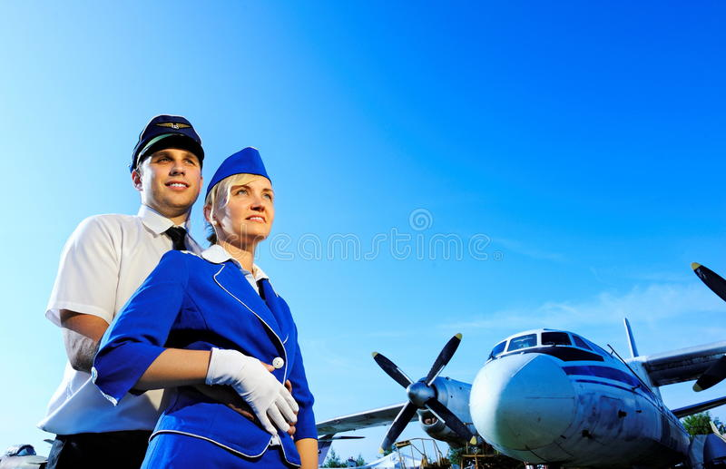 Download Cabin Crew Couple Stock Image - Image: 10450781