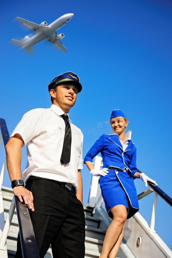 Cabin Crew Couple Stock Image