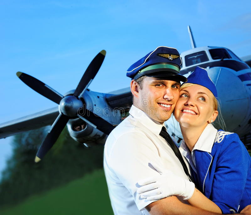 Cabin Crew Couple Royalty Free Stock Photography
