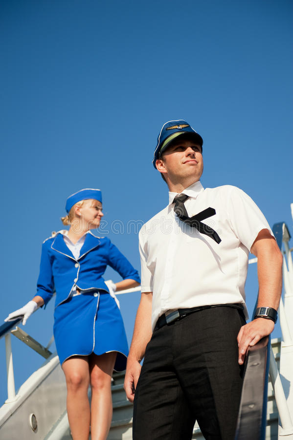 Download Cabin Crew Couple Royalty Free Stock Photos - Image: 10450848