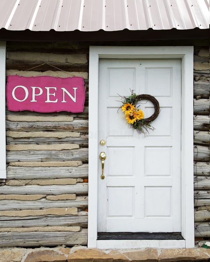 Cabin Door Stock Photo Image Of Entrance Rural Pink 54524308