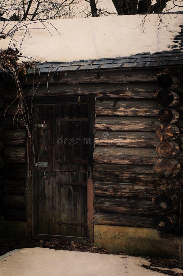 Cabin Door stock photo