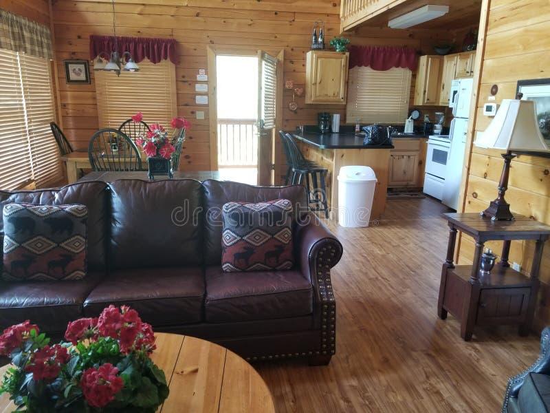 Cabin Gatlinburg tn livingroom royalty free stock photos
