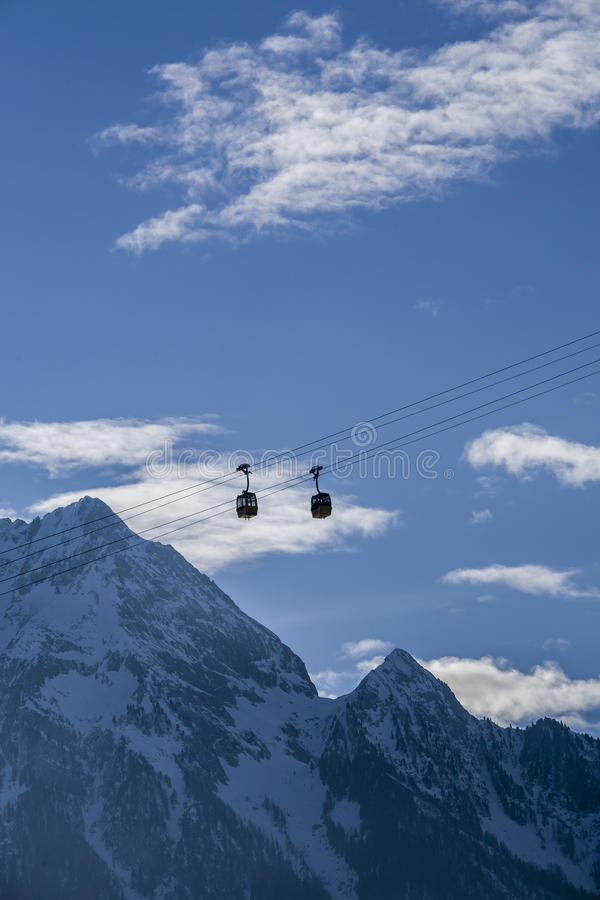 Download Cabin Lift Hanging In The Air Stock Photo - Image: 28754190